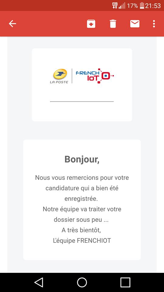 Participation au concours French IOT