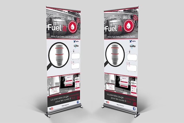 Kakemono Fuel it, integration 3D