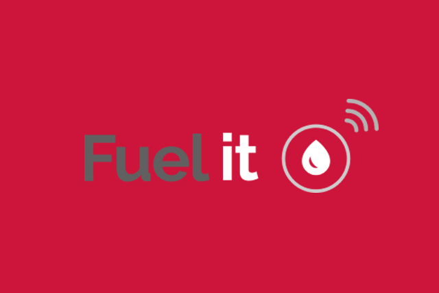 Logo Fuel it sur fond rouge