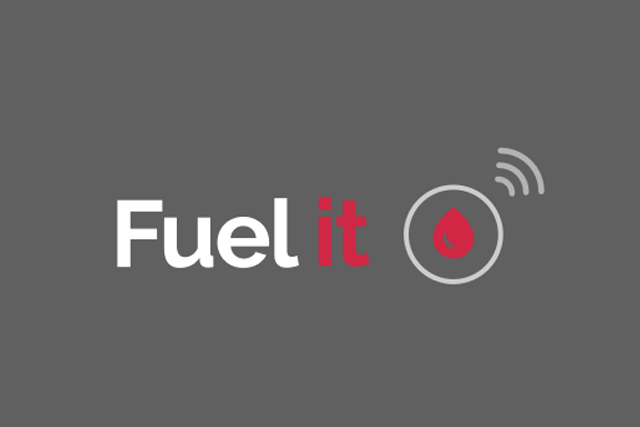 Logo Fuel it sur fond gris