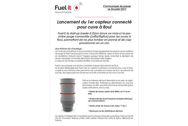 Visuel du communiqué de presse de Fuel it