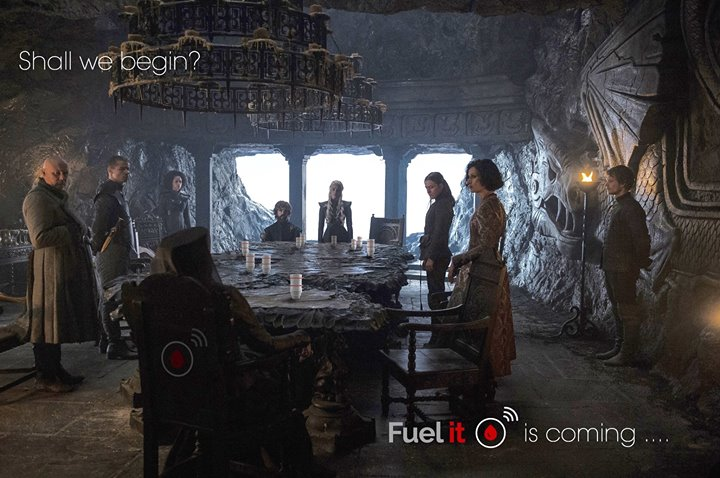 Game of thrones, the Fuel It level sensor replaces lions in a cult GOT scene