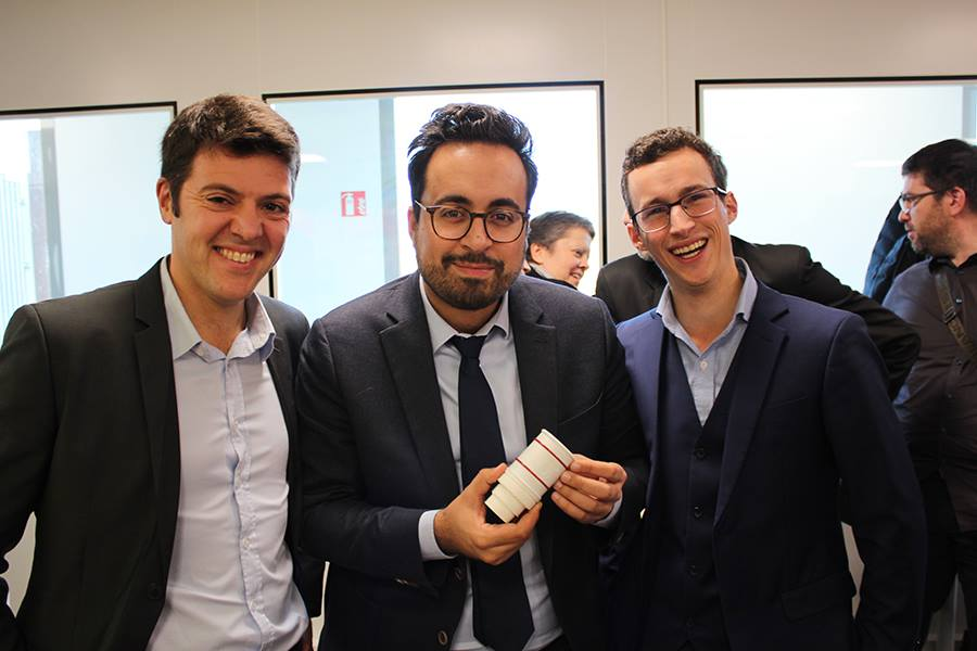 Francois du Garreau and Mathias Pathiot meet Mounir Mahjoubi, digital state secretary - Fuel it
