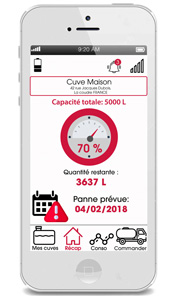 Intégration-iphone-application fuel it mazout fioul ultrason