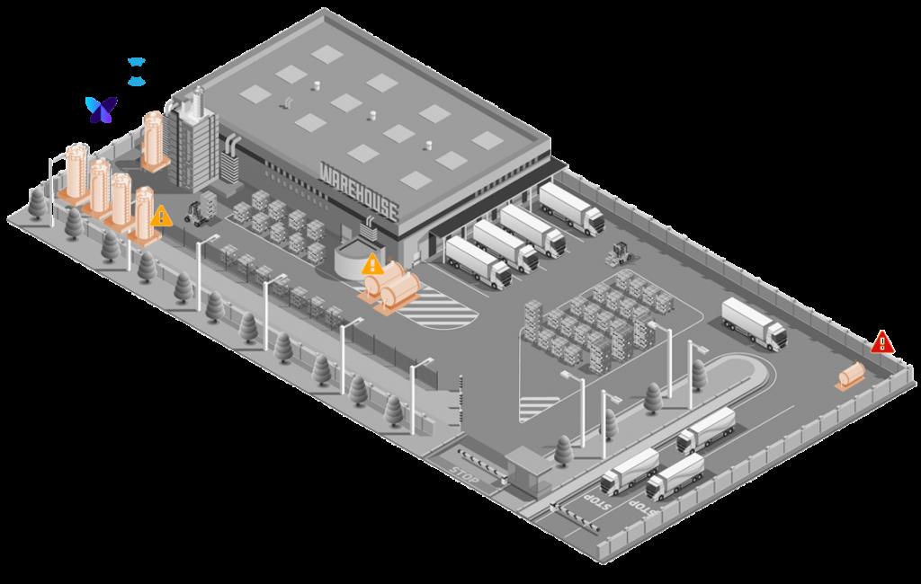 lubrifiant huiles dépôts jauges connectées gestion depot warehouse