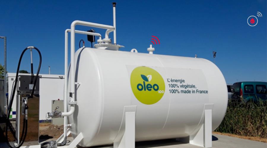 carburant végétal oléo 100 et keolis et capteur fuel it