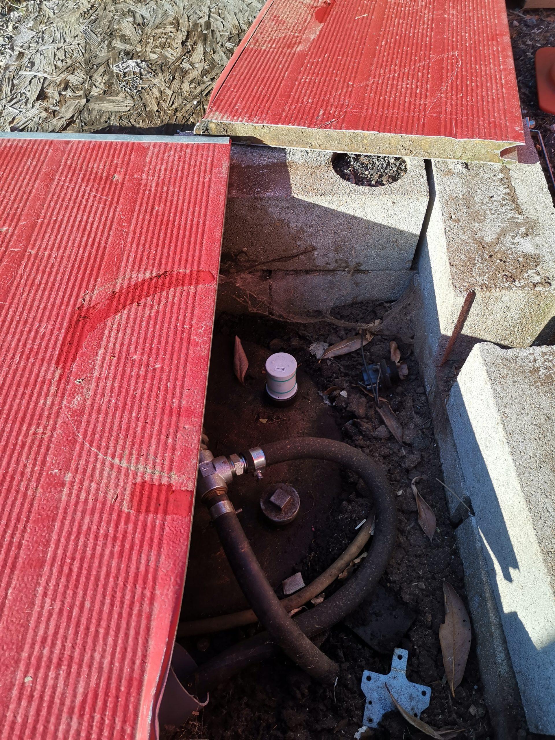 Installation capteur cuve enterrée